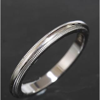 ティファニー(Tiffany & Co.)のティファニー TIFFANY&CO.ミルグレイン リング 8号 pt950仕上済(リング(指輪))