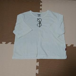 ダブルネーム(DOUBLE NAME)の★メガネ刺繍Tシャツ(Tシャツ(半袖/袖なし))