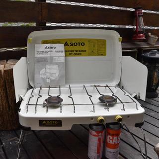 シンフジパートナー(新富士バーナー)のSOTO ハイパワー ツーバーナー ST-525 限定色 白(ストーブ/コンロ)