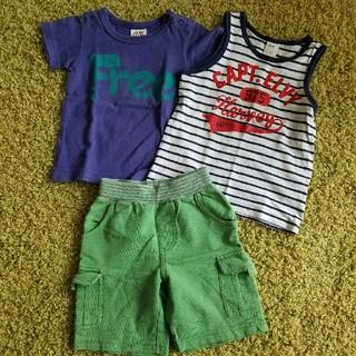 JUNK STORE - 男の子 ハーフパン&Tシャツセット サイズ80