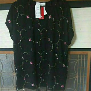 シマムラ(しまむら)のしまむら 大きいサイズ 刺繍 カットソー ブラウス 3L (カットソー(半袖/袖なし))