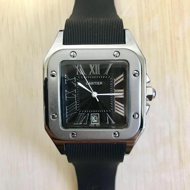 時計 ブランド ブライトリング | Cartier - メンズ 腕時計 スクエアフェイス ラバーベルト クォーツ 未使用 新品の通販 by 7Yoshi1188's shop|カルティエならラクマ