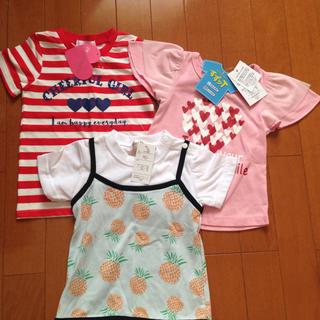 シマムラ(しまむら)のTシャツ 女の子 おまとめ売り 新品(Tシャツ/カットソー)