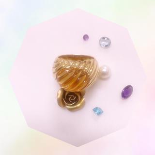 昭和ジュエリー★K18★リング★指輪★美品(リング(指輪))