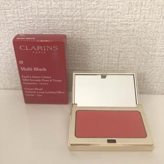クラランス(CLARINS)の【新品】CLARINS クラランス マルチブラッシュ 02 キャンディー(チーク)