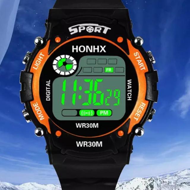 レプリカ 時計 ロレックス 007 - レロジオ スポーツ男性 デジタル時計男性 オレンジの通販 by baki's shop|ラクマ