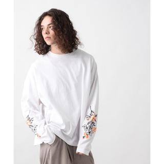 ハレ(HARE)のHARE ソデシシュウカットソー 黒(Tシャツ/カットソー(七分/長袖))