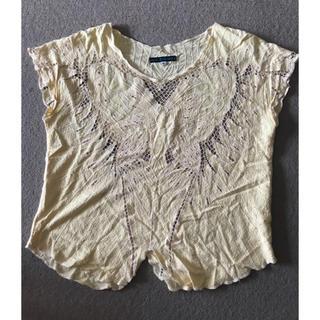 シェル(Cher)のcherで購入したインポート バタフライ柄トップス(カットソー(半袖/袖なし))