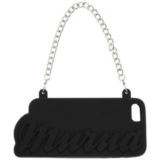 ムルーア(MURUA)のMURUA   6/6S/7 対応黒チェーン付ロゴシリコンiphoneケース  (iPhoneケース)