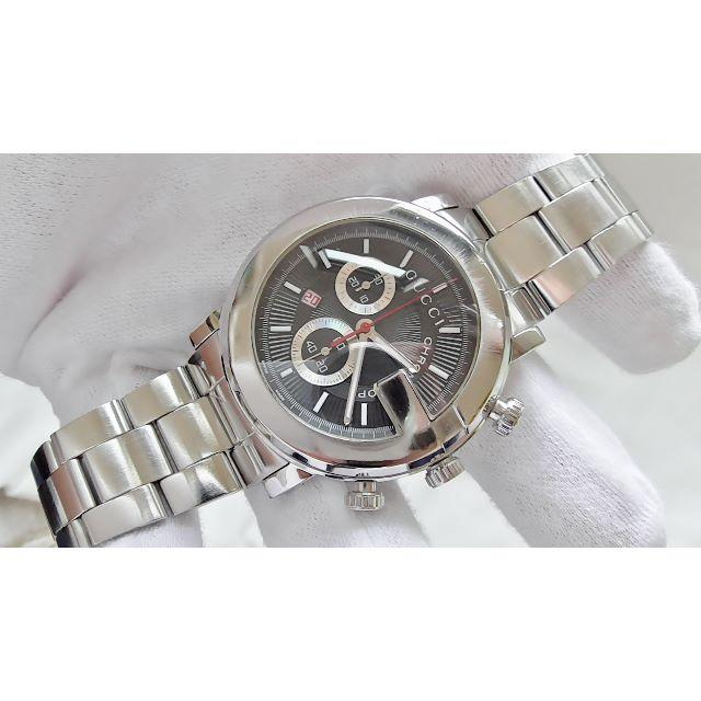 韓国 スーパーコピー カルティエ 時計 、 Gucci - GUCCI グッチ 101M クロノ 男性用 クオーツ腕時計 B2095メの通販 by hana|グッチならラクマ
