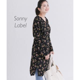 サニーレーベル(Sonny Label)のアーバンリサーチサニーレーベル 花柄ガウンワンピース(ひざ丈ワンピース)