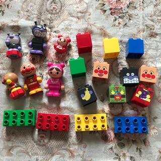 アンパンマン(アンパンマン)のアンパンマン ブロックセット ハンコ 知育玩具 おもちゃ(積み木/ブロック)