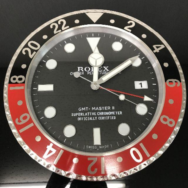 ロレックス 掛け時計 GMTマスターⅡ 黒×赤の通販 by れんれん's shop|ラクマ