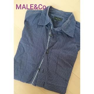 メイルアンドコー(MALE&Co.)のメンズ 水玉柄 半袖シャツ (MALE&Co)(シャツ)