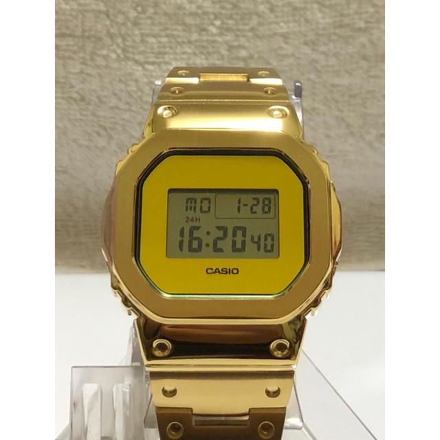 G-SHOCK - カスタムG-SHOCK!フルメタルフルゴールドDW-5700BBMB-1ベース!の通販 by SGSX1100S's shop|ジーショックならラクマ
