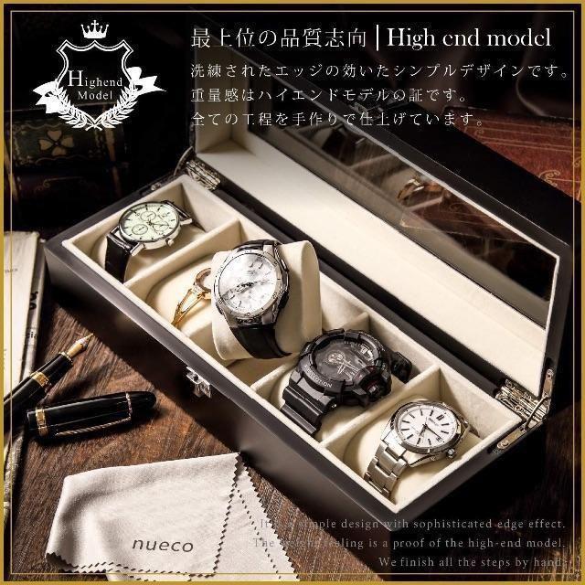 カルティエ スーパー コピー ネックレス | 腕時計収納ケース コレクションケース 時計ケース 木製 5本用 拭きクロス付き の通販 by saya's shop|ラクマ