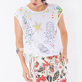 デシグアル(DESIGUAL)の新品♡デシグアル プリントTシャツ ホワイト系 S、Lサイズ 大幅お値下げ❣️(Tシャツ(半袖/袖なし))