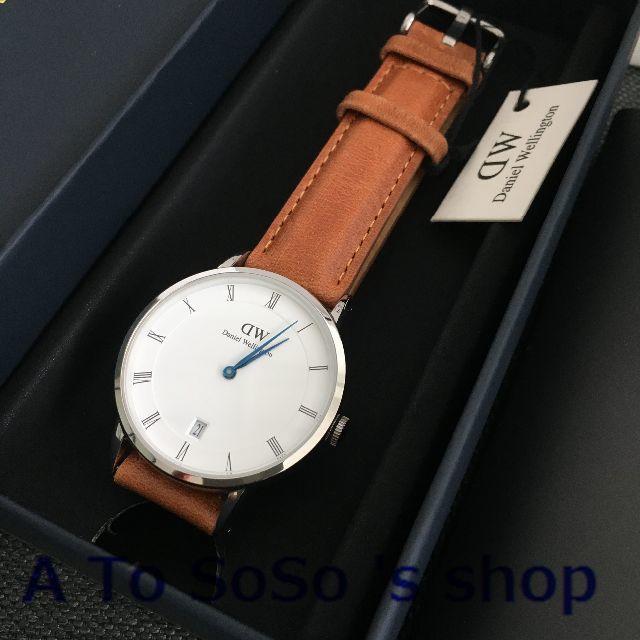 Daniel Wellington(ダニエルウェリントン)の限定お値下げ DW DAPPER  DURHAM 34ミリ シルバー メンズの時計(腕時計(アナログ))の商品写真