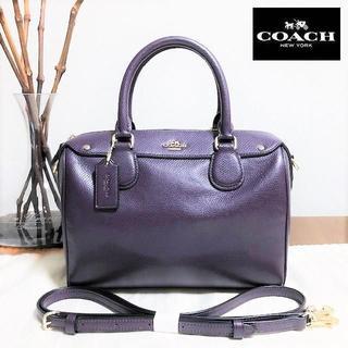 7d60a4ec08c0 コーチ(COACH)の送料無料 美品 コーチ ショルダーバッグ ベネット 紫 F36624 M026