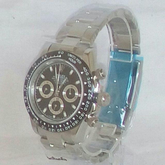 ロレックス デイトナ 文字盤黒  自動巻 メンズ 腕時計の通販 by ひこすけ's shop|ラクマ