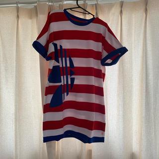アディダス(adidas)のadidas originals Tシャツワンピース(Tシャツ/カットソー(半袖/袖なし))