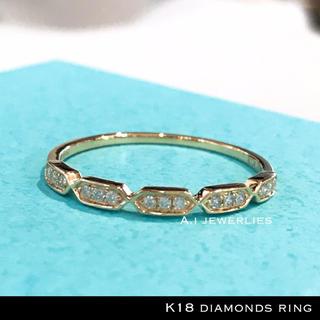 リング 18金 ダイヤモンド k18 天然ダイヤモンド リング イエローゴールド(リング(指輪))