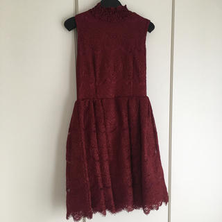 Lily Brown - !最終お値下げ!リリーブラウン ボルドー ドレス ワンピース