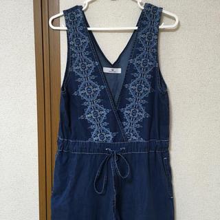 Sonny Label - ☆クロス刺繍デニムサロペット インディゴ