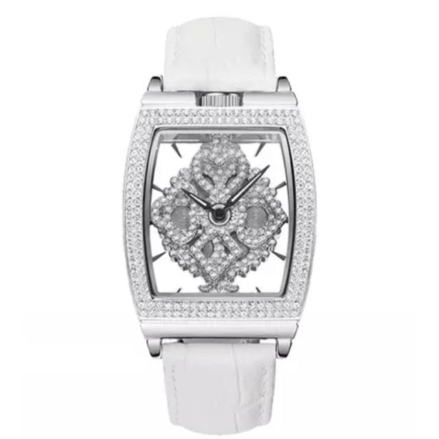 IWC偽物 時計 腕 時計 、 シルバー×ホワイト  文字盤回転式 DAVENA の通販 by Eighth gAte|ラクマ