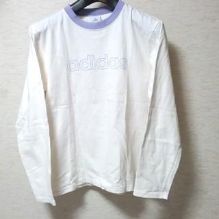 アディダス(adidas)のadidas アディダス ブランド プリント レディース 長袖 ロンT M(Tシャツ(長袖/七分))