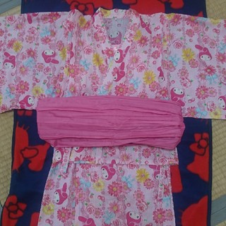 マイメロディ(マイメロディ)のマイメロ浴衣👘  120㎝(甚平/浴衣)