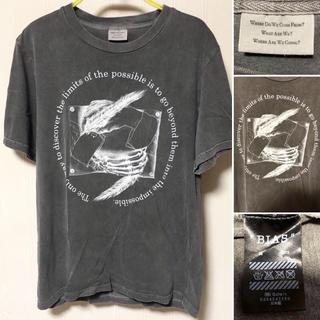 バイアス(BIAS)の日本製 BIAS バイアス M.C. エッシャー だまし絵 スカル Tシャツ(Tシャツ/カットソー(半袖/袖なし))