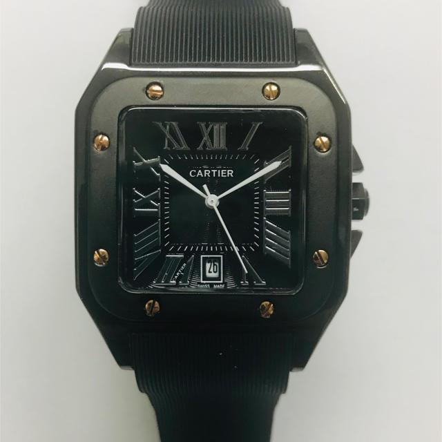 Cartier - メンズ 腕時計 スクエアフェイス ラバーベルト クォーツ 未使用 新品の通販 by 7Yoshi1188's shop|カルティエならラクマ
