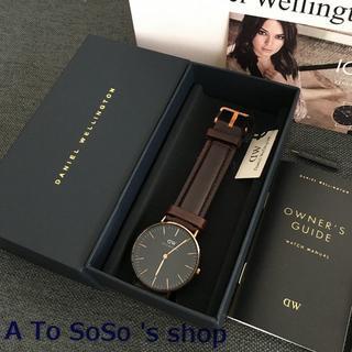 ダニエルウェリントン(Daniel Wellington)の限定お値下げ DW BLACK  BRISTOL 36ミリ ローズゴールド(腕時計(アナログ))