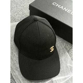 シャネル(CHANEL)のchanel シャネル  キャップ  ブラック (キャップ)