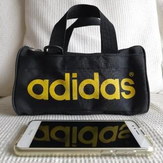 アディダス(adidas)のadidas デサント製 ミニ ドラム (ボストン) バッグ(ドラムバッグ)
