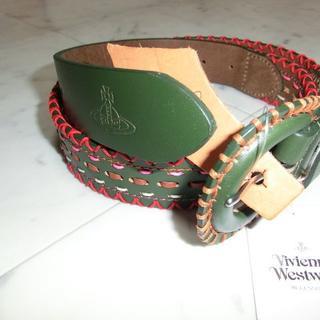 ヴィヴィアンウエストウッド(Vivienne Westwood)の新品 ヴィヴィアンウエストウッド ベルト 牛革 グリーン オーブ(ベルト)