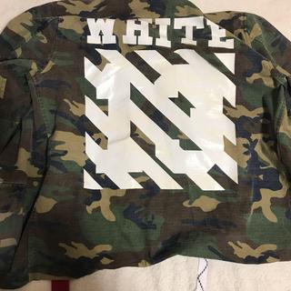 オフホワイト(OFF-WHITE)の off white ミリタリージャケット 迷彩(ミリタリージャケット)