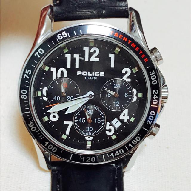 POLICE - POLICE クロノグラフ  腕時計の通販 by JJ|ポリスならラクマ