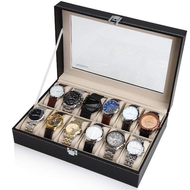 腕時計収納ケース 腕時計収納ボックス コレクションケース 12本用の通販 by flesh★green's shop|ラクマ