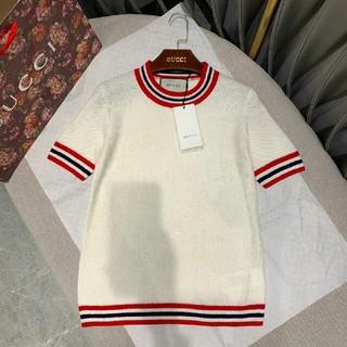 3064d687ccdd グッチ(Gucci)のグッチ ウールセーター ウール混 無地 学院風 オフィス S 正規