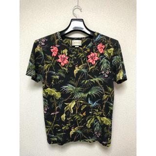 グッチ(Gucci)のGUCCI グッチ 花柄 Tシャツ 確実正規品 ワッペン リネン100%(Tシャツ/カットソー(半袖/袖なし))