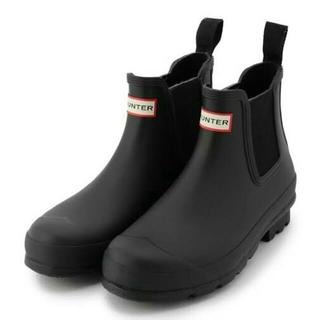 ハンター(HUNTER)の新品未使用♡ HUNTER ハンター ブラック  UK6  US8 EU39(レインブーツ/長靴)