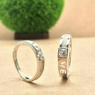 【即日発送  箱つき】2個セット ペアリング シルバーリング 指輪♥プレゼント(リング(指輪))