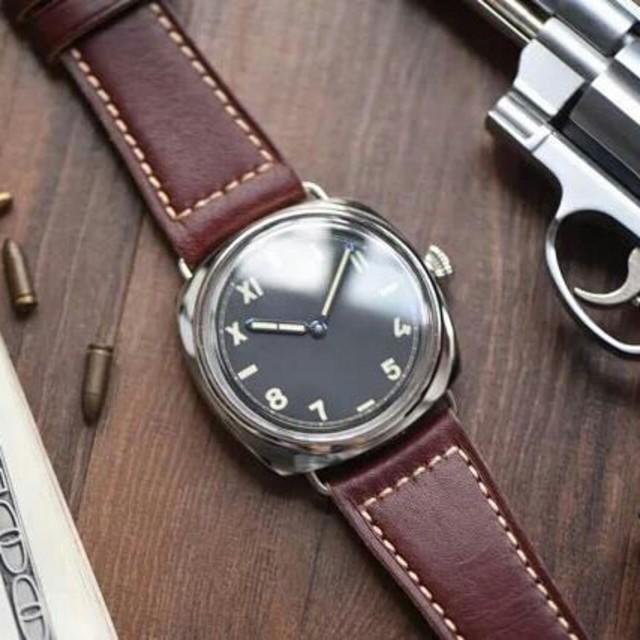 OFFICINE PANERAI - 美品   PANERAI(パネライ) 黒文字盤 メンズ 腕時計の通販 by タニグチ's shop|オフィチーネパネライならラクマ