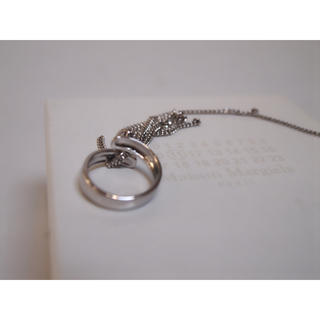 マルタンマルジェラ(Maison Martin Margiela)のマルジェラ フリンジチェーンリング 指輪(リング(指輪))