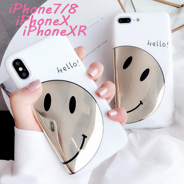 iPhone7/8 X/XS XR ニコちゃんホワイト ソフトケースの通販 by エランドル's shop|ラクマ