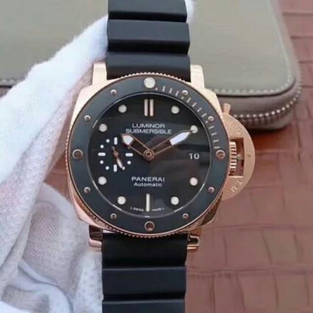 OFFICINE PANERAI -  美品 今季PANERAI(パネライ)ブラック文字盤 メンズ 腕時計の通販 by タニグチ's shop|オフィチーネパネライならラクマ