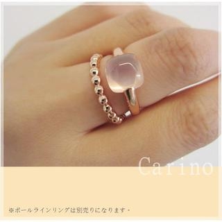 丁寧なぽってり ローズクオーツ 天然石 リング 9 - 15 号(リング(指輪))