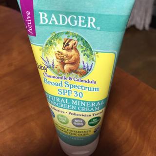 バジャー(Badger)のバジャーカンパニー赤ちゃん用日焼け止クリーム(日焼け止め/サンオイル)